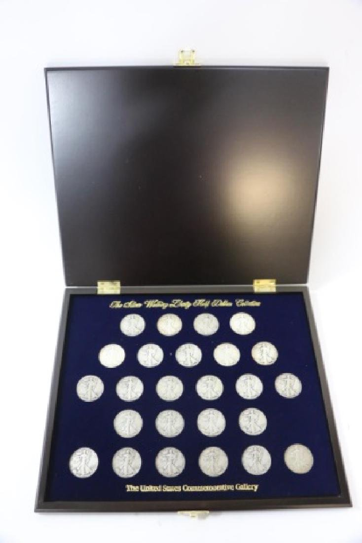 SILVER WALKIG LIBERTY HALF DOLLAR CASED COLLECTION