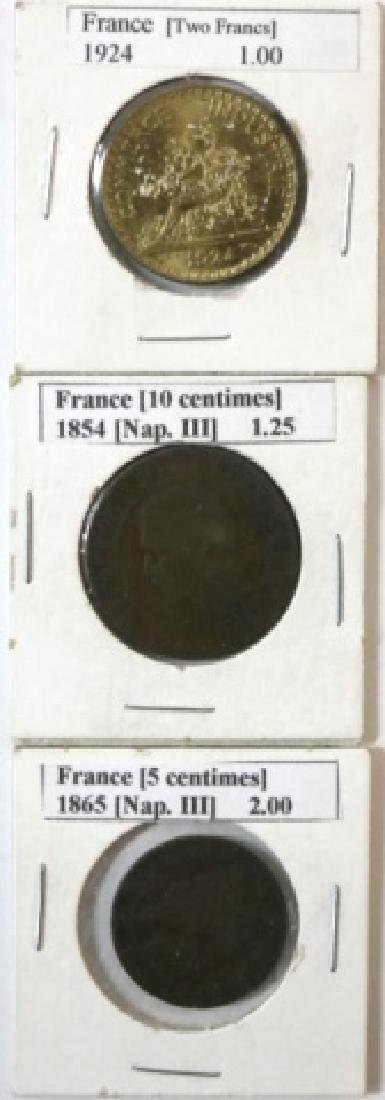 19TH C. FRENCH COIN GROUPING
