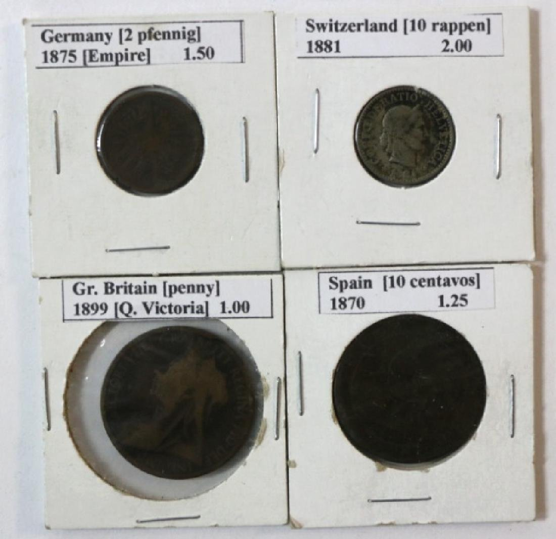 19TH C. FOREIGN COIN GROUPING