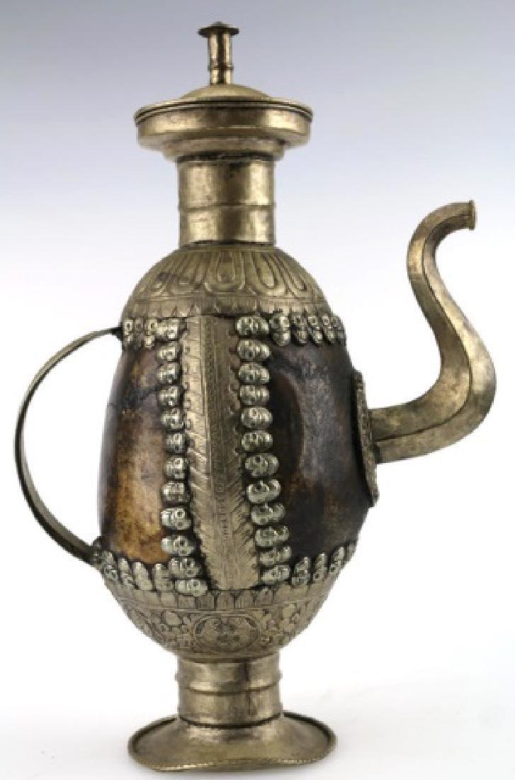 TIBETAN ANTIQUE SKULL RITUAL EWER