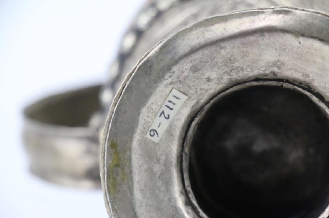 TIBETAN ANTIQUE SKULL RITUAL EWER - 8