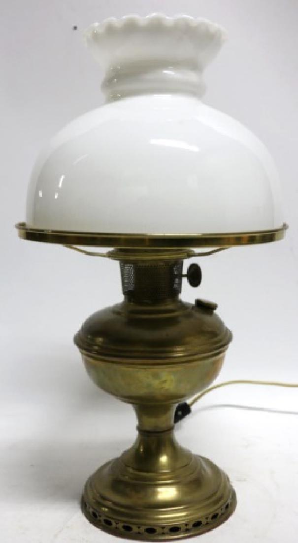ANTIQUE BRASS ALADDIN OIL LAMP