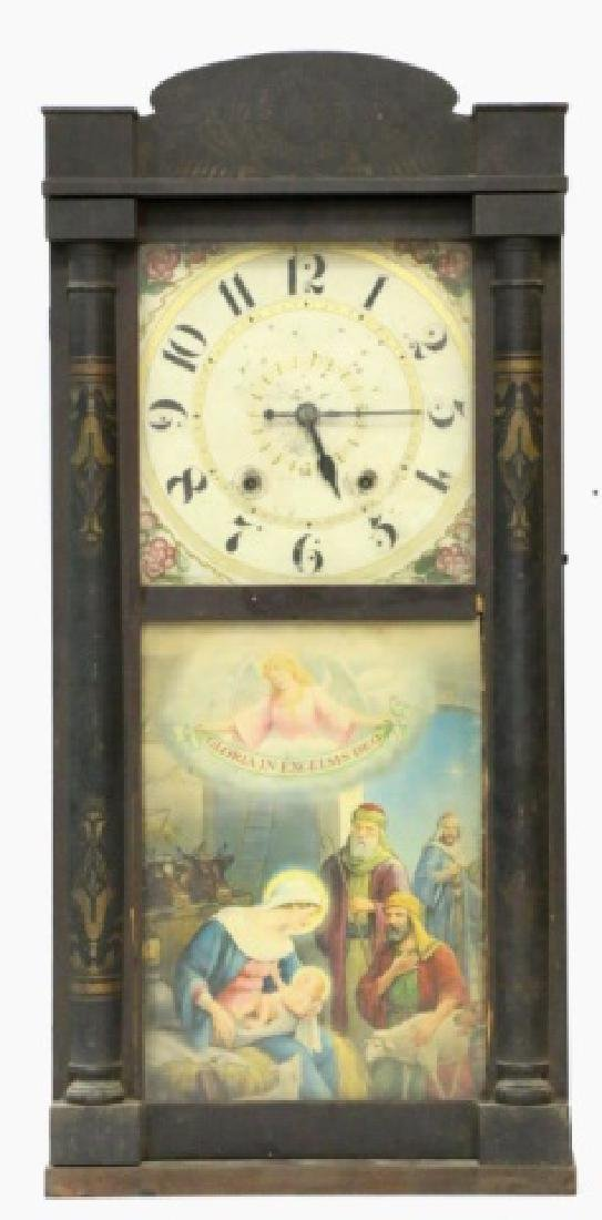 "SETH THOMAS ""ELI TERRY"" ANTIQUE SHELF CLOCK"