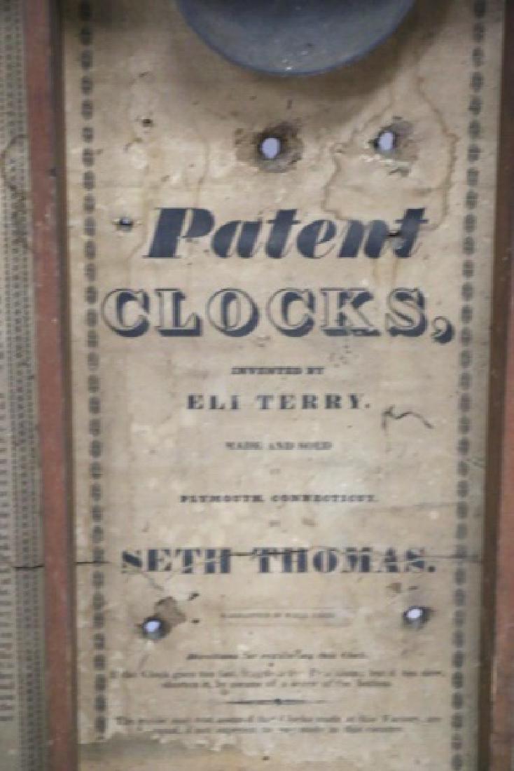 "SETH THOMAS ""ELI TERRY"" ANTIQUE SHELF CLOCK - 5"