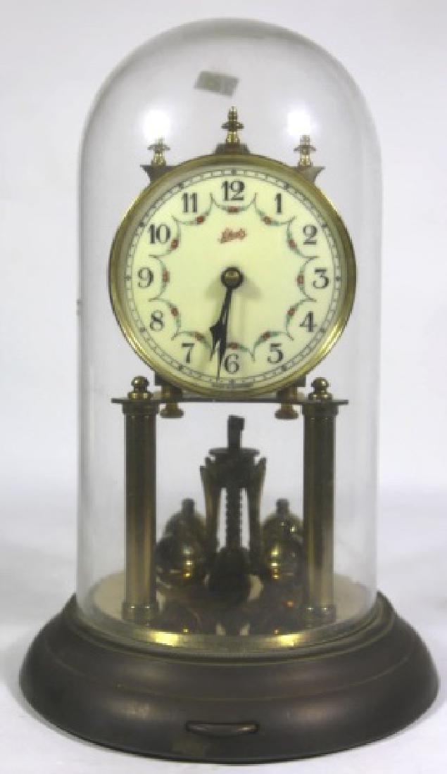 SCHATZ VINTAGE REGULATOR GLASS DOME CLOCK