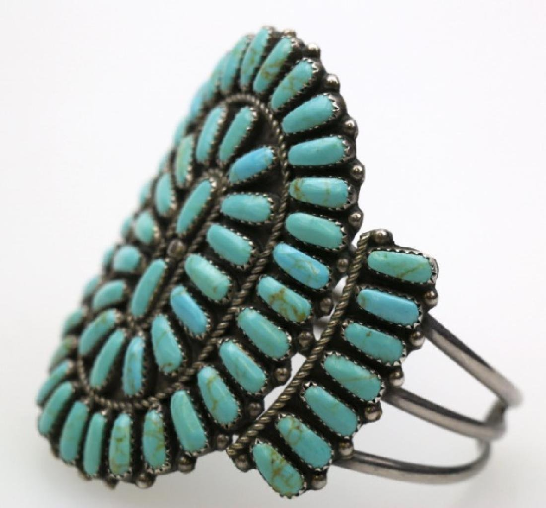NATIVE AMERCIAN ZUNI PETITE POINT CUFF BRACELET