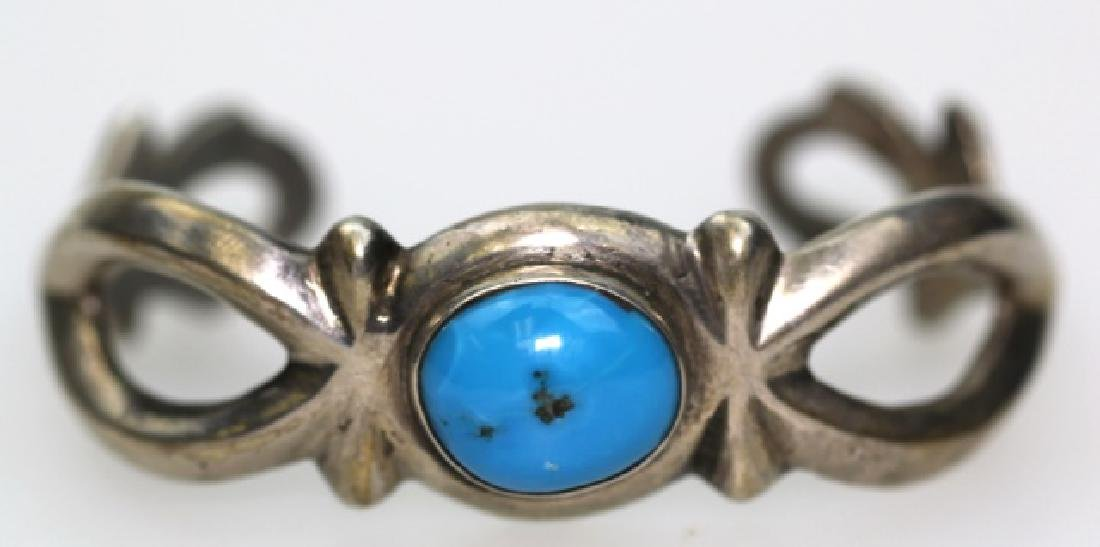 STERLING SILVER / TURQUOISE NATIVE AMERCIAN BANGLE