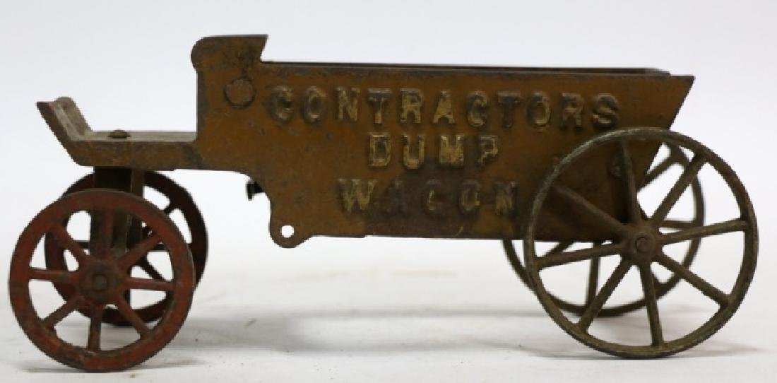 ANTIQUE CAST IRON DUMP WAGON