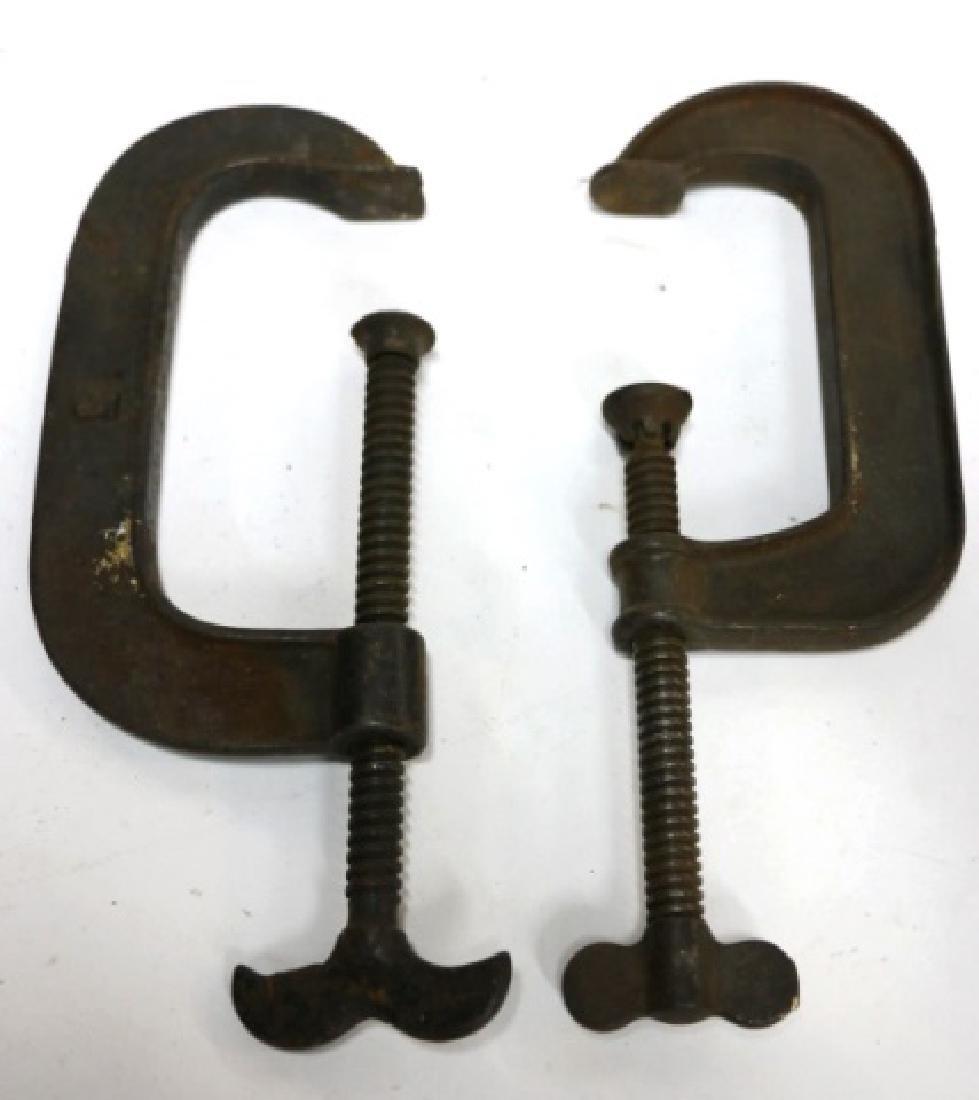 ANTIQUE STEEL CAST C- CLAMPS