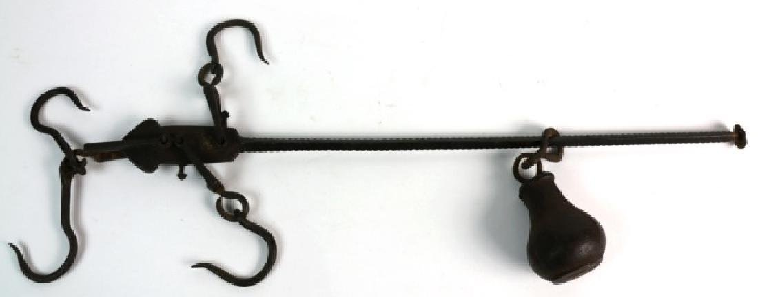 ANTIQUE IRON WORK COUNTER-BALANCE HOOK / SCALE