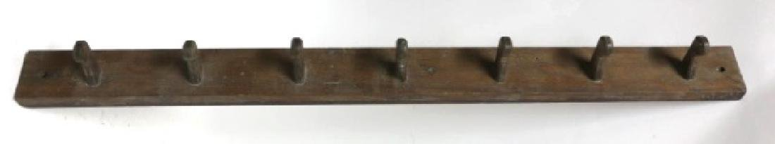 ANTIQUE COUNTRY HAND PEGGED PRIMITIVE COAT RACK