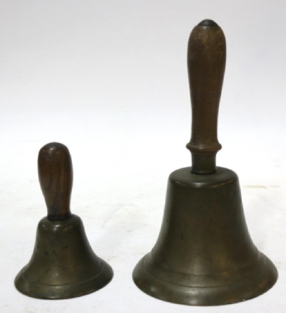 ANTIQUE HAND BELL GROUPING