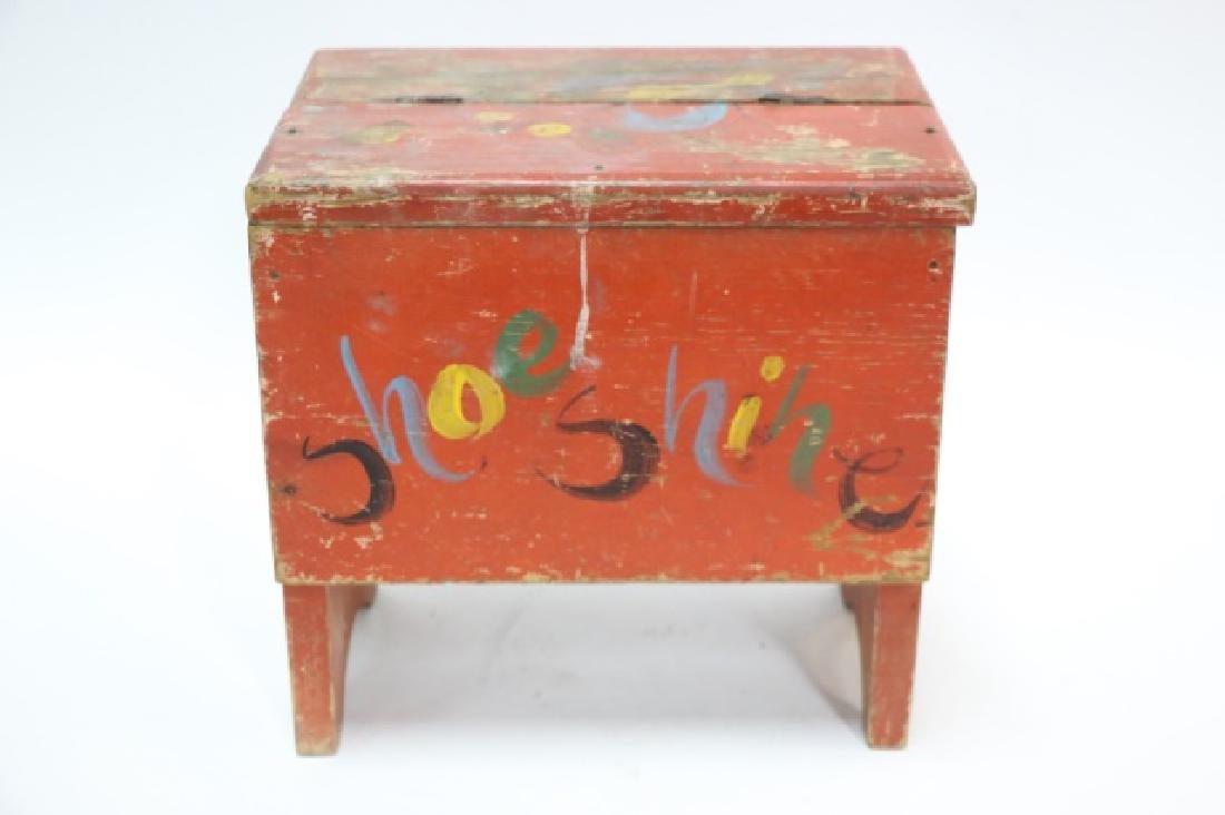 ANTIQUE DOVETAILED PRIMITIVE SHOE SHINE BOX
