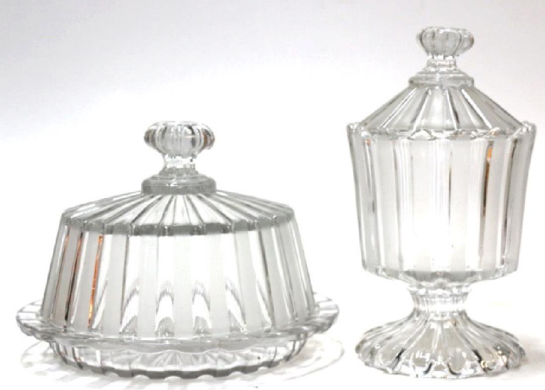 ANTIQUE PRESSED GLASS GROUPING