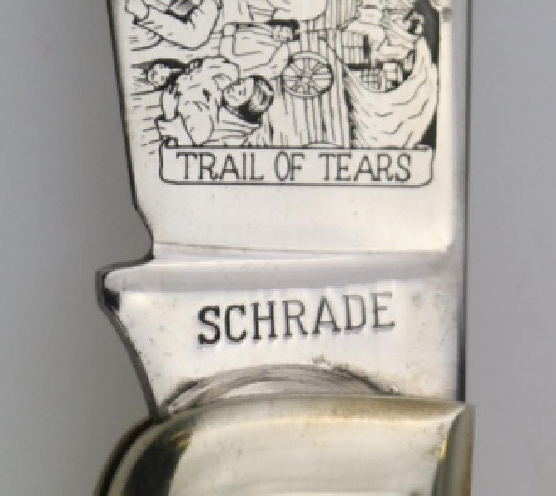 "SCHRADE CHEROKEE ""TRAIL OF TEARS"" FOLDING KNIFE - 6"
