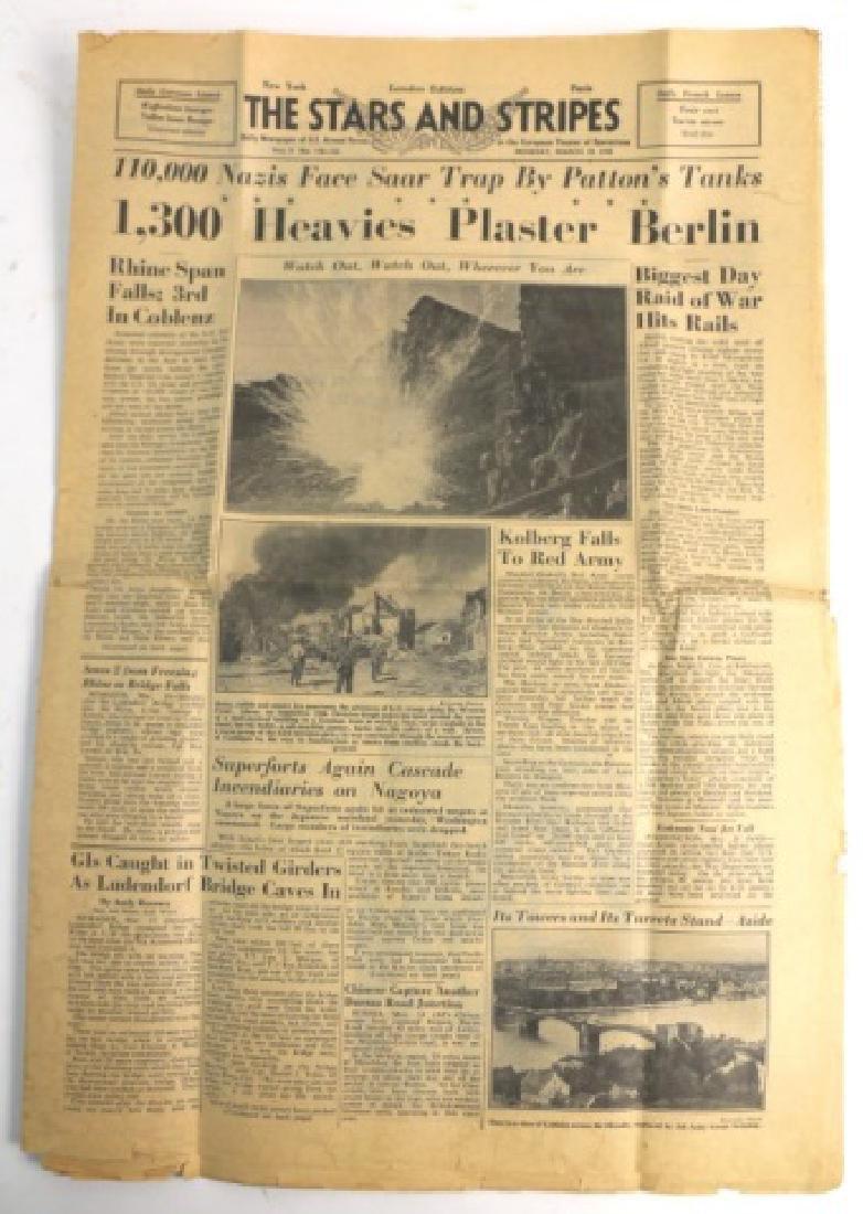 1945 STARS AND STRIPES WWII NEWSPAPER