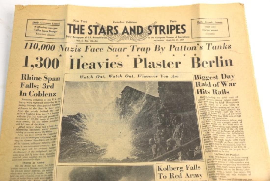 1945 STARS AND STRIPES WWII NEWSPAPER - 2