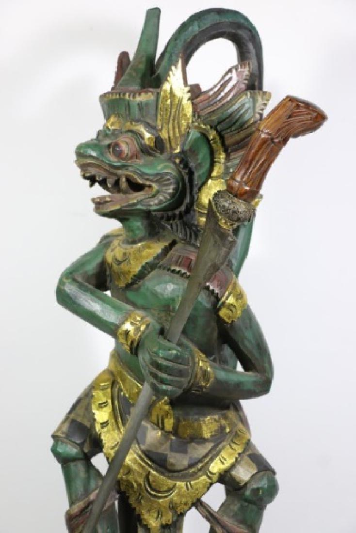 HANUMAN BALI / JAVA HAND CARVED KERIS HOLDER - 9