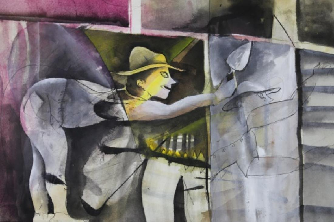 RUBEN LEYVA  (MEXICAN, B. 1953 ) GOUACHE & INK