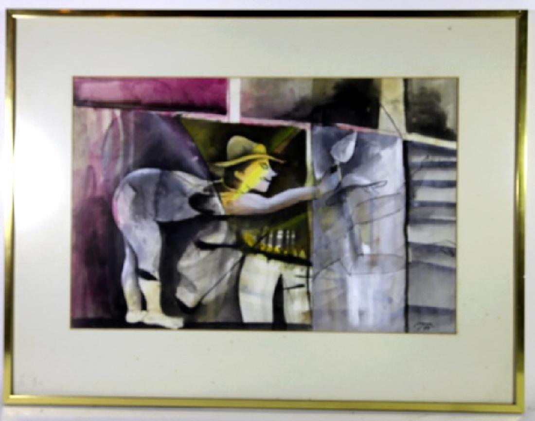 RUBEN LEYVA  (MEXICAN, B. 1953 ) GOUACHE & INK - 2