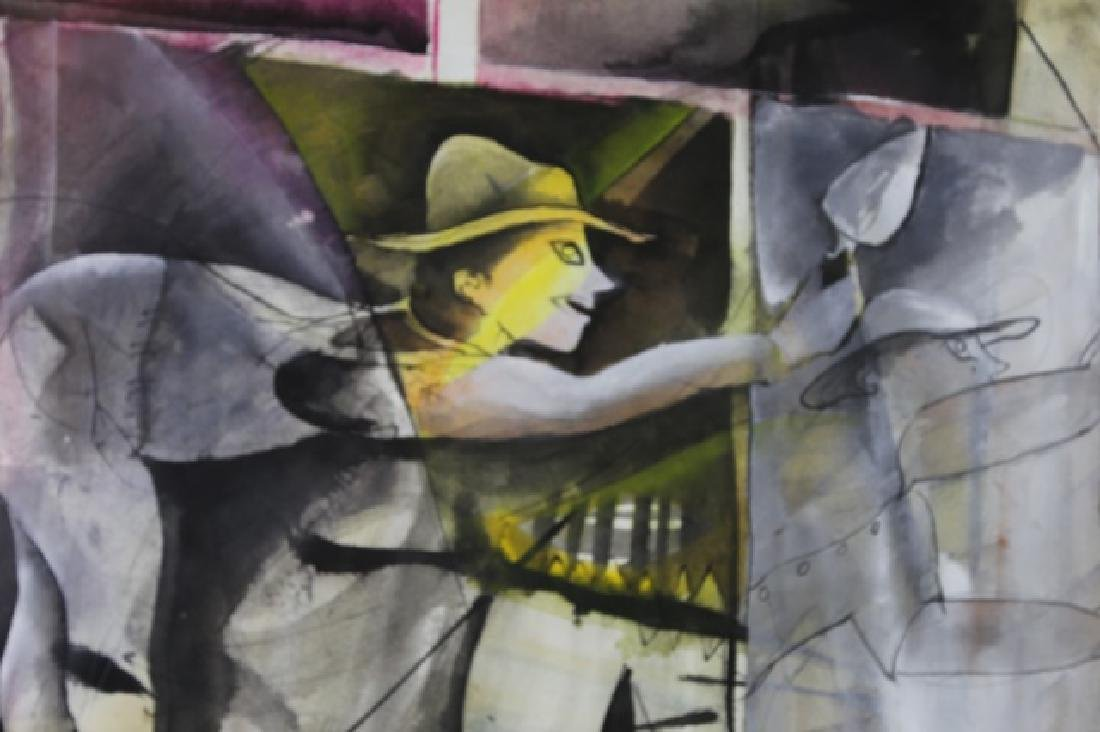 RUBEN LEYVA  (MEXICAN, B. 1953 ) GOUACHE & INK - 5