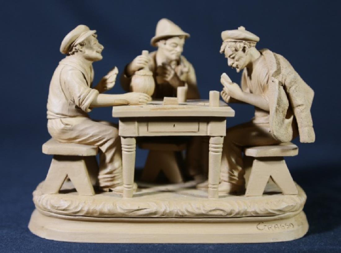 ITALIAN TERRACOTTA CARD PLAYERS SCULPTURE