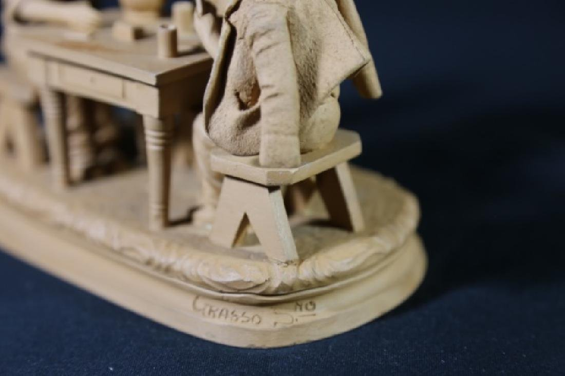 ITALIAN TERRACOTTA CARD PLAYERS SCULPTURE - 3