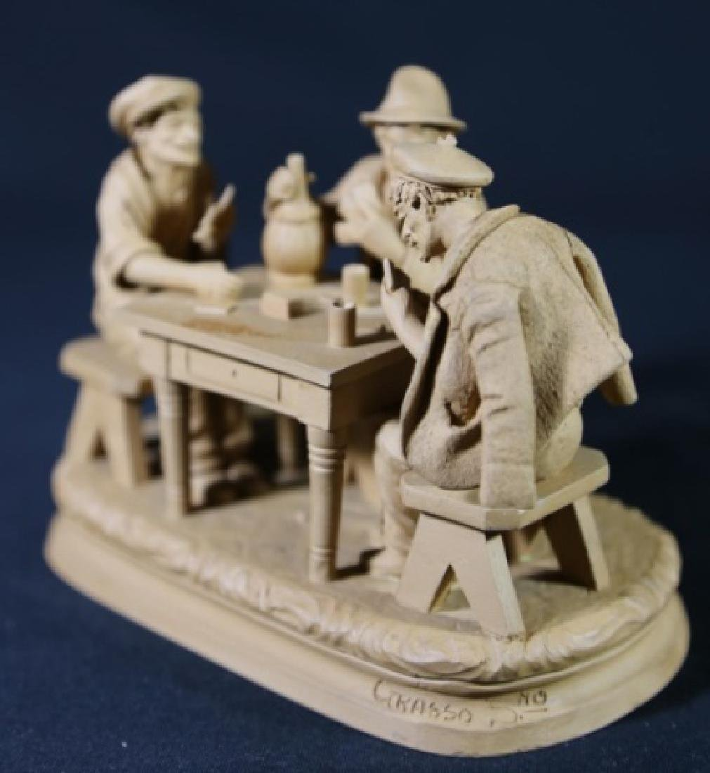 ITALIAN TERRACOTTA CARD PLAYERS SCULPTURE - 4