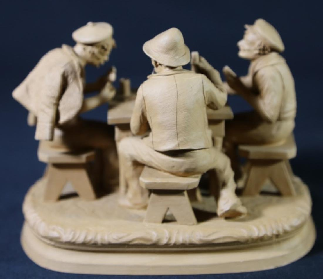 ITALIAN TERRACOTTA CARD PLAYERS SCULPTURE - 5