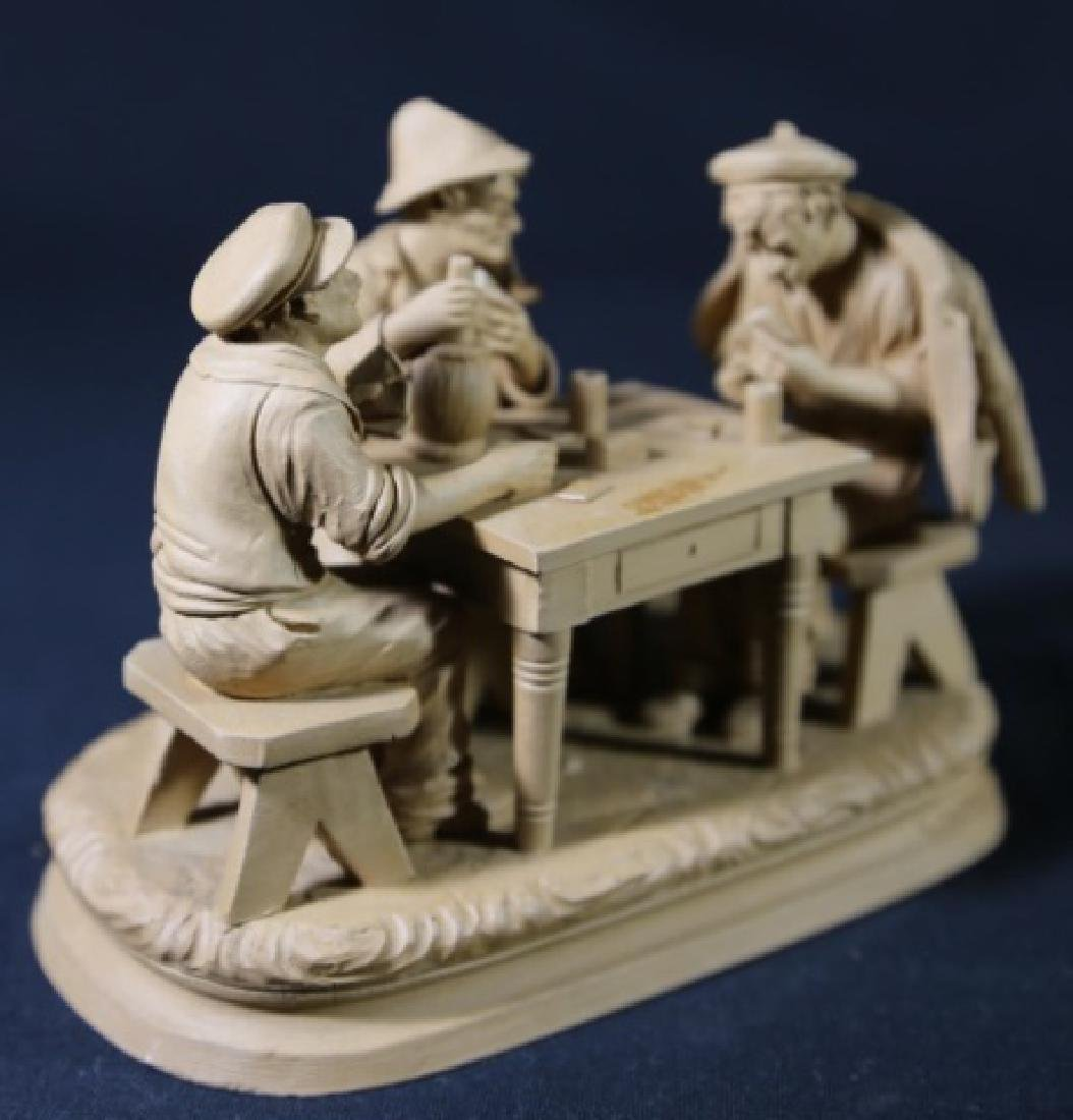 ITALIAN TERRACOTTA CARD PLAYERS SCULPTURE - 6