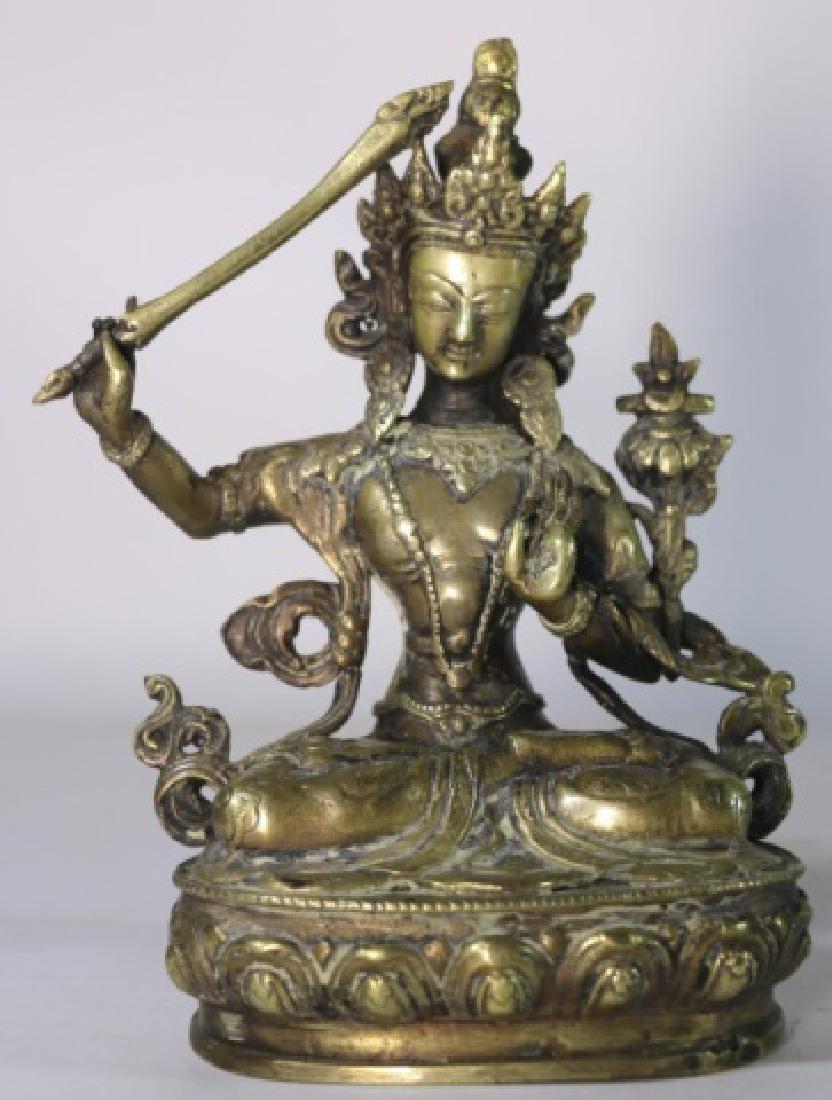 BRONZE ANTIQUE BUDDHA - 2