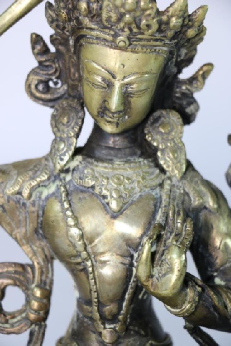 BRONZE ANTIQUE BUDDHA - 4