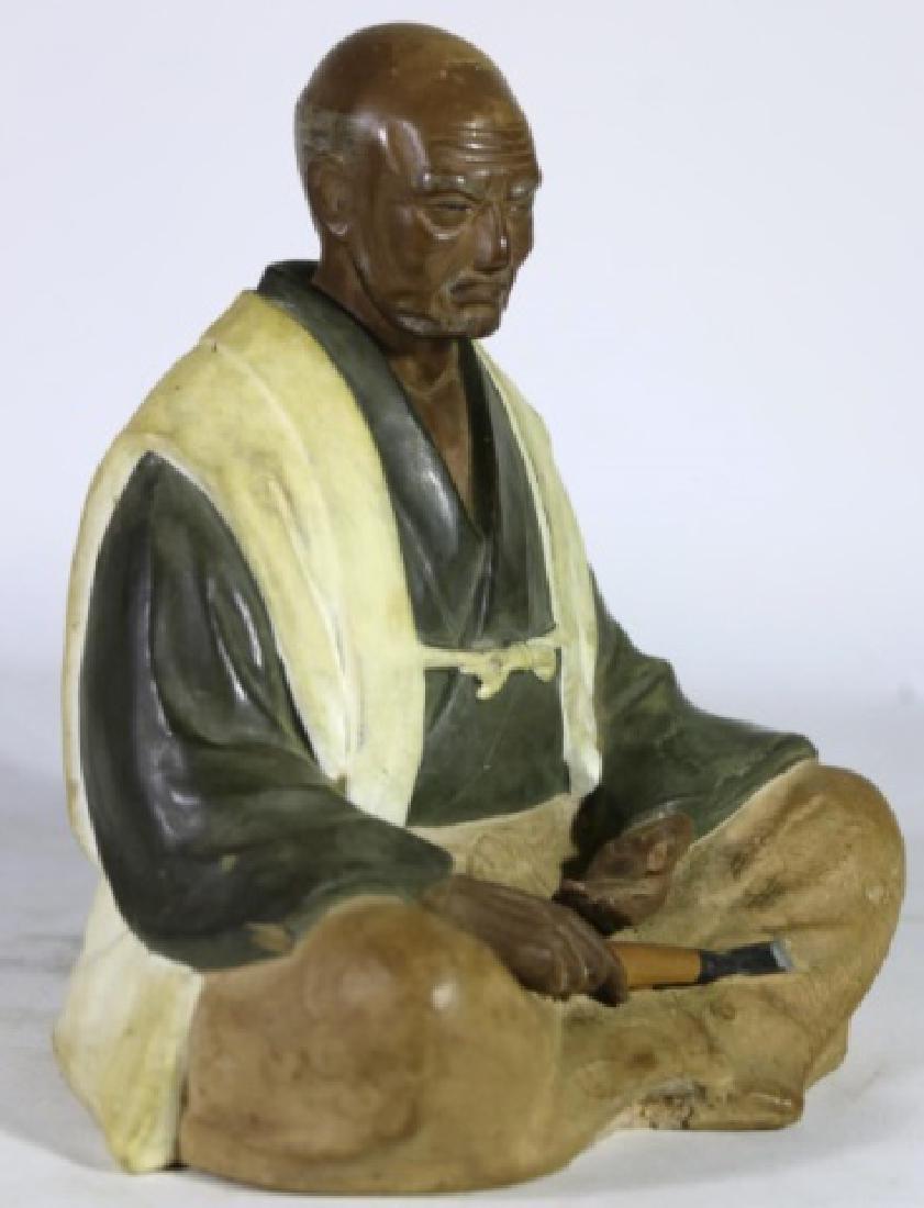 CHINESE ANTIQUE MUDD MAN SCULPTURE - 2