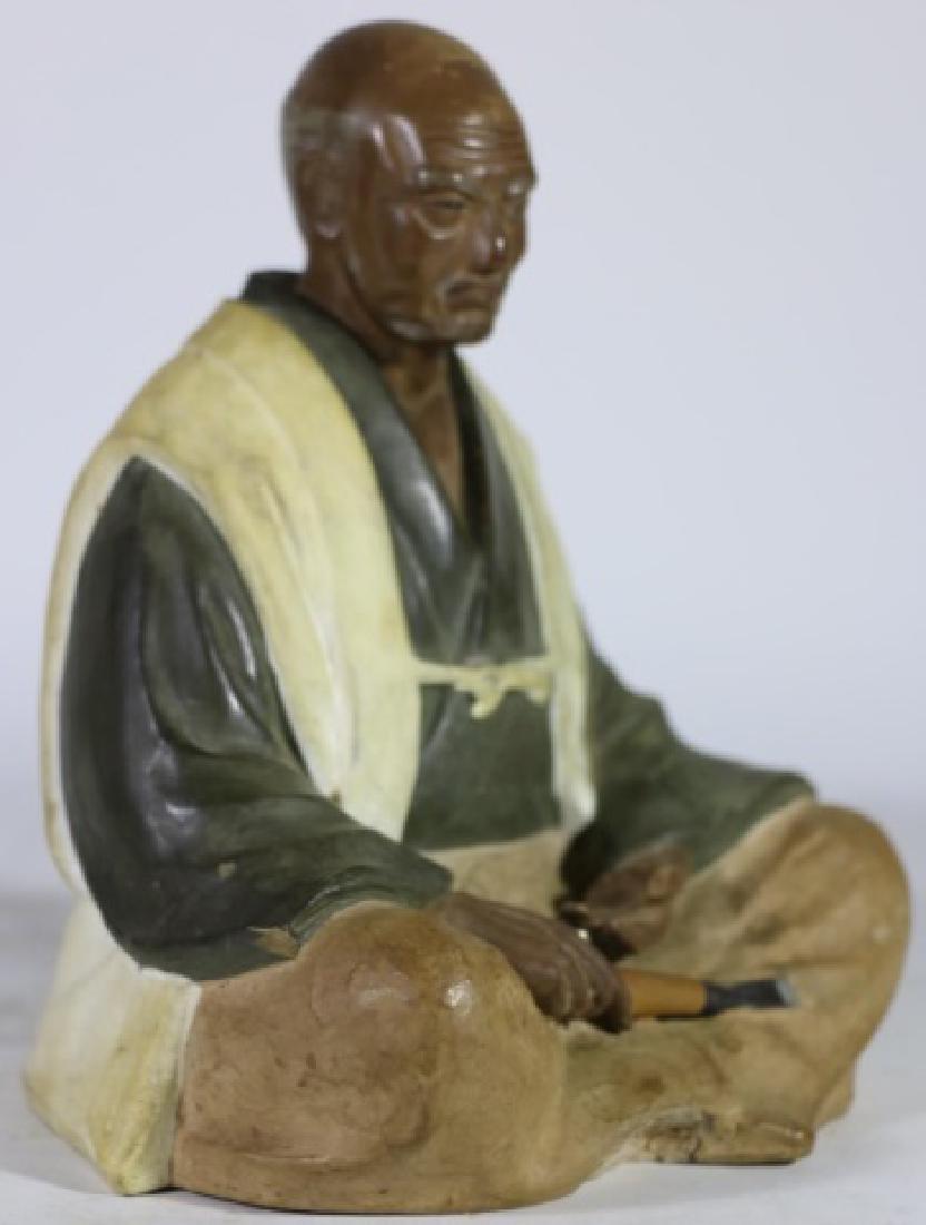 CHINESE ANTIQUE MUDD MAN SCULPTURE - 6