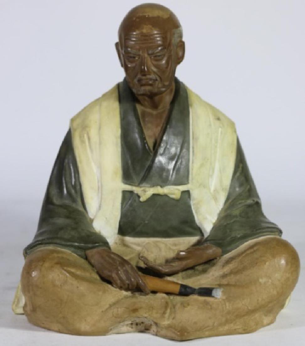 CHINESE ANTIQUE MUDD MAN SCULPTURE - 7