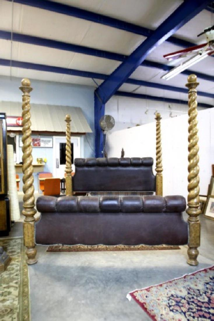 MAITLAND SMITH KING SIZE BARLEY TWIST POSTER BED - 4