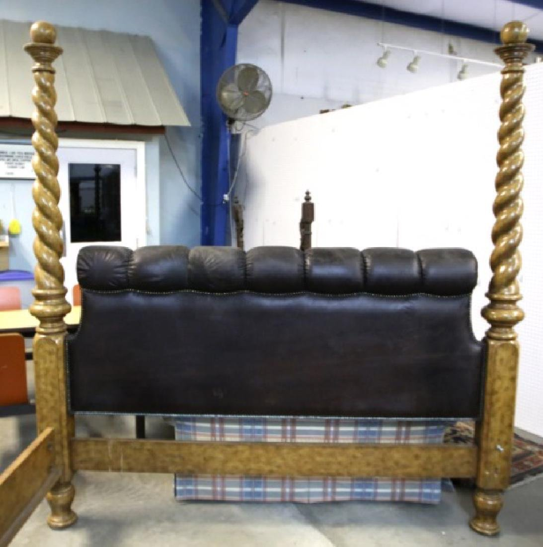 MAITLAND SMITH KING SIZE BARLEY TWIST POSTER BED - 6