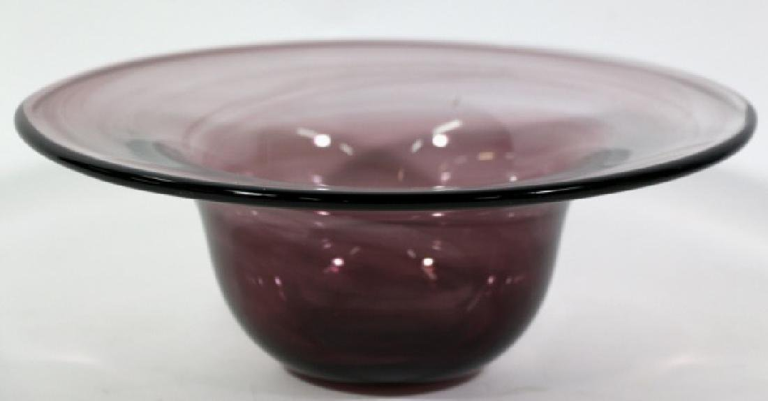 MID-CENTIURY MODERN  ART GLASS BOWL - 2