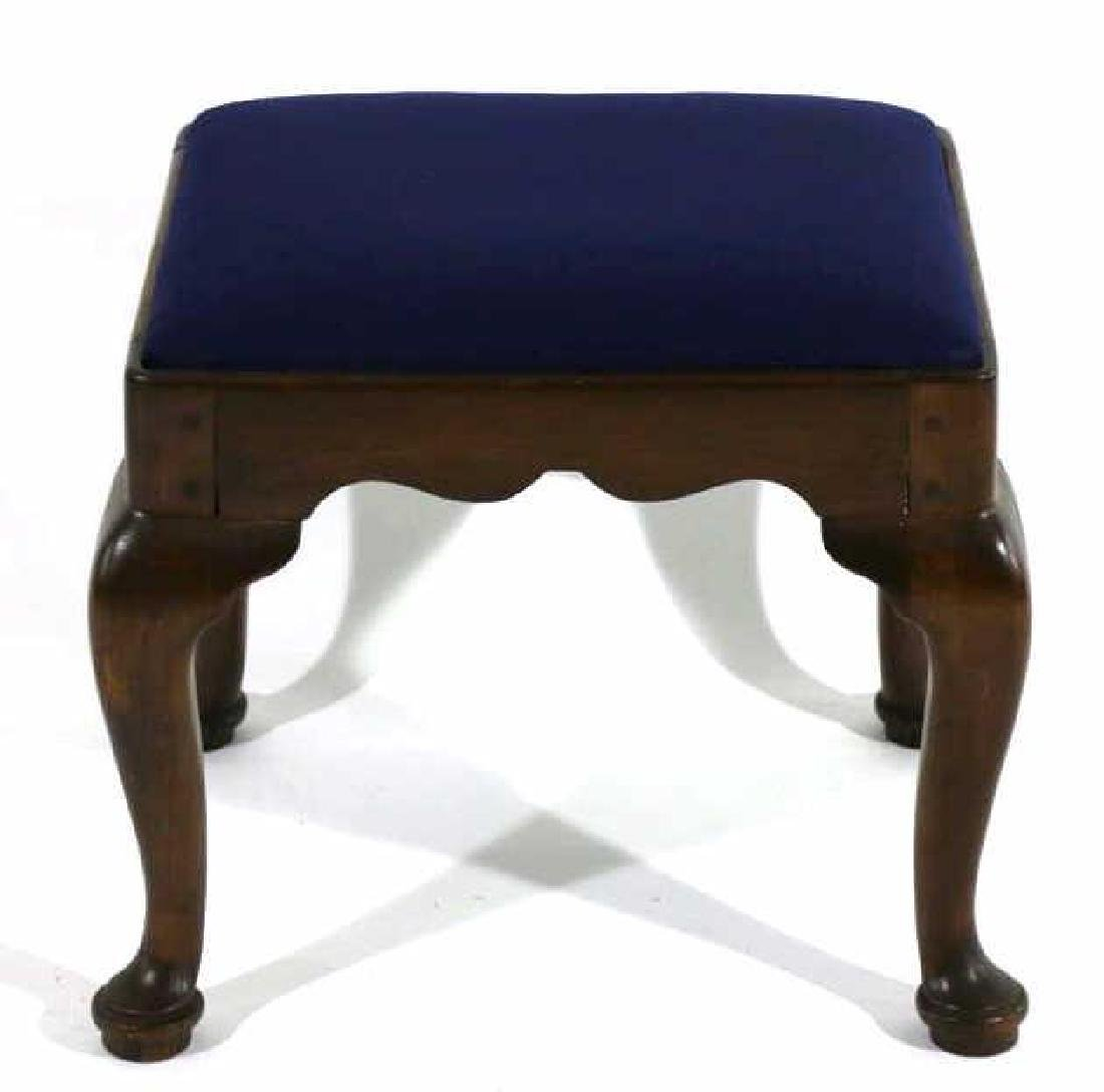 ANTIQUE HAND PEGGED QUEEN ANNE SEAT - 2