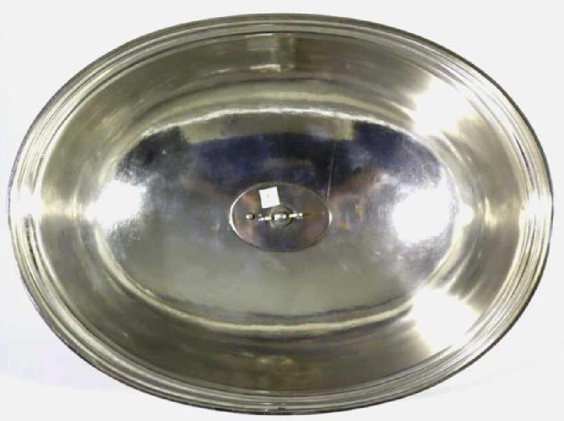 ENGLISH ANTIQUE SHEFFIELD SILVER POULTRY MEAT DOME - 3