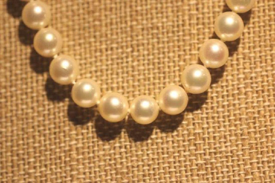 MIKIMOTO PEARL STRAND WITH 14KYG CLASP - 5