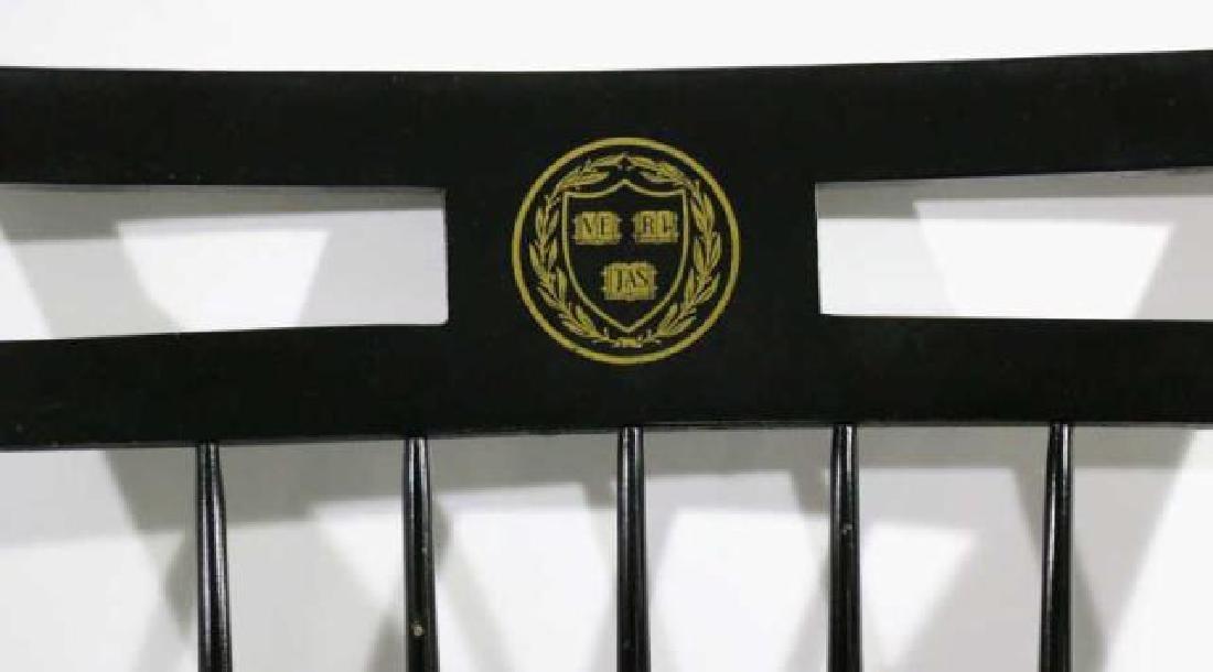 HARVARD COLLEGIATE EBONZIED WINDSOR ARM-CHAIR - 3