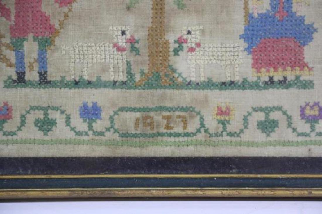 AMERICAN 1927 HAND STITCHED SAMPLER - 3