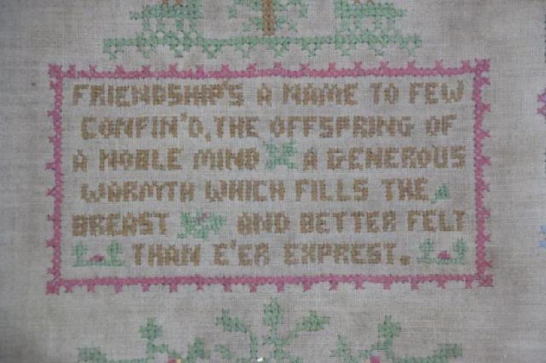 AMERICAN 1927 HAND STITCHED SAMPLER - 4