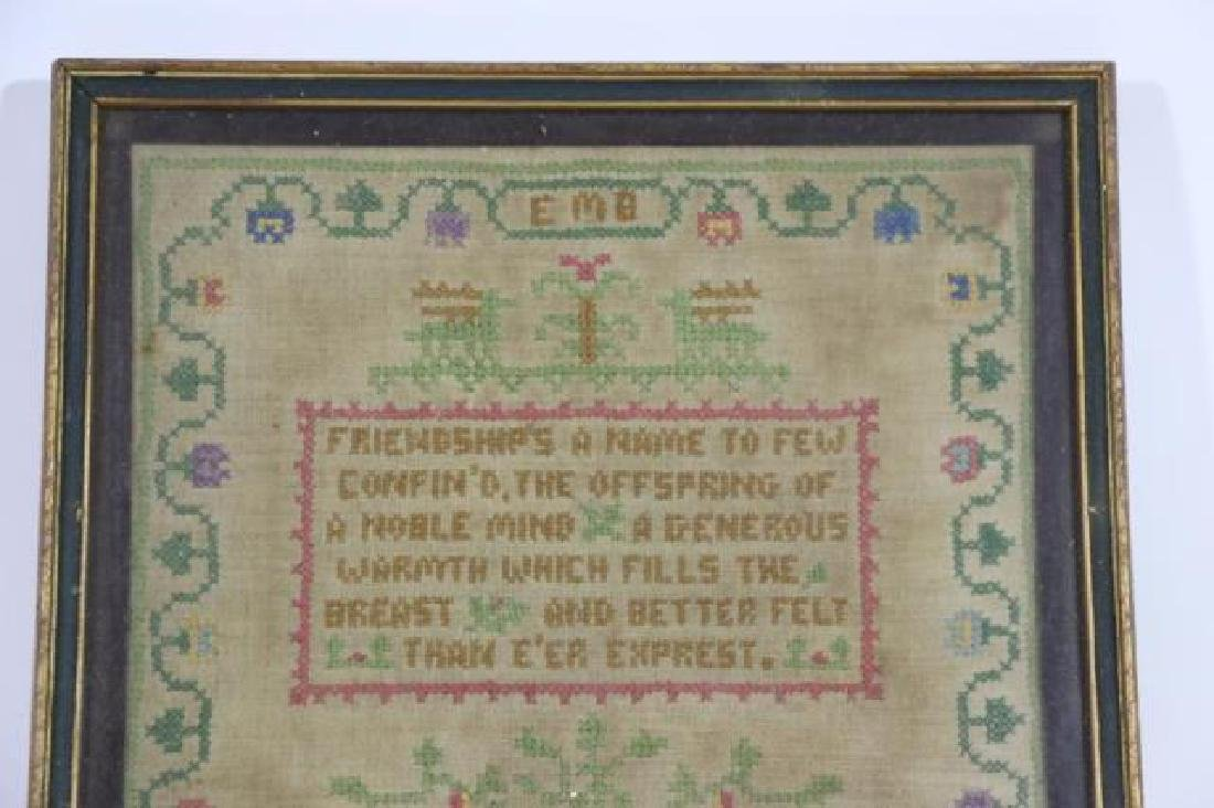 AMERICAN 1927 HAND STITCHED SAMPLER - 5