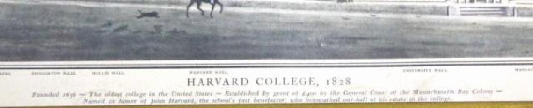 HARVARD 1828 TRUMEAU GILT FRAMED ANTIQUE MIRROR - 3
