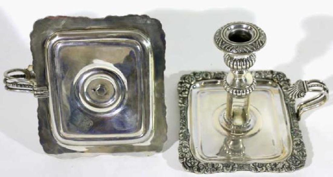 ITALIAN 800 STERLING SILVER CANDLE STICKS - 2