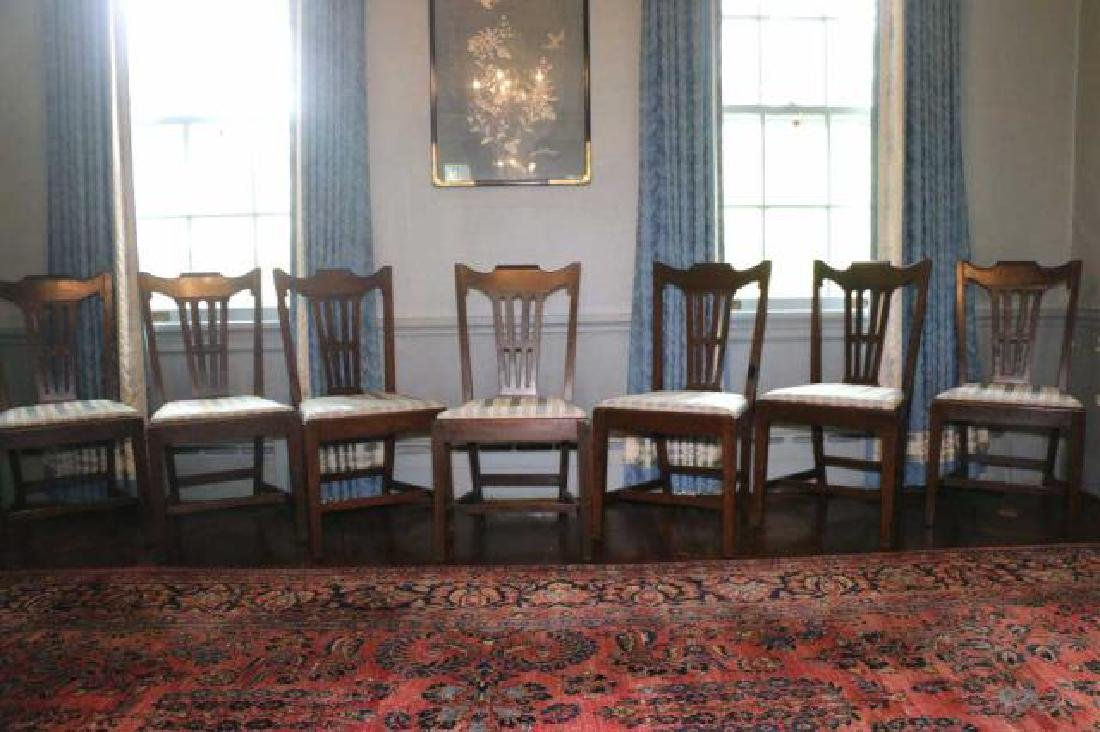 ENGLISH GEORGE III MAHOGANY CHAIR SET OF EIGHT
