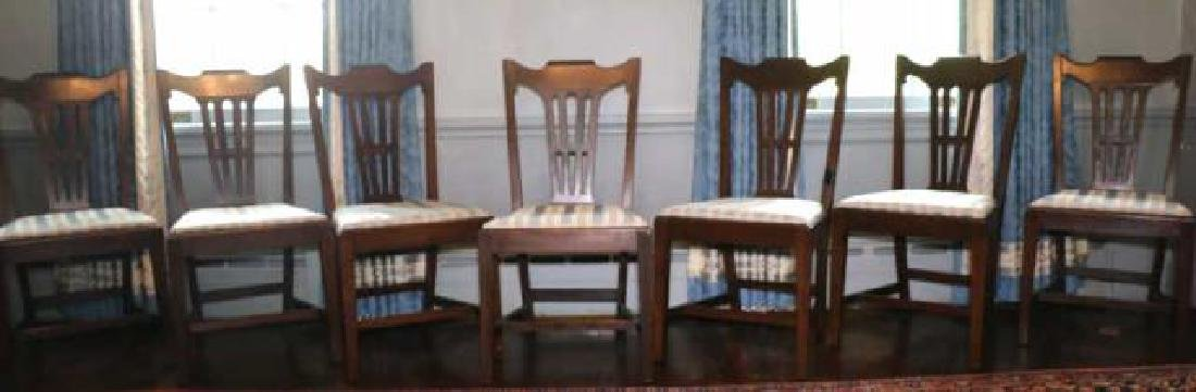 ENGLISH GEORGE III MAHOGANY CHAIR SET OF EIGHT - 2