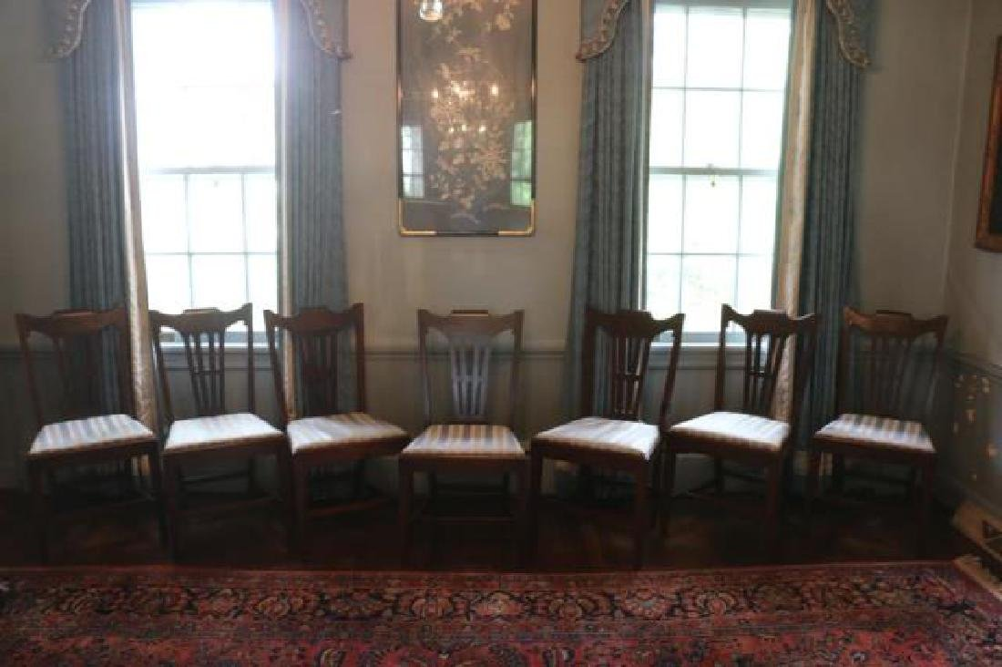 ENGLISH GEORGE III MAHOGANY CHAIR SET OF EIGHT - 4